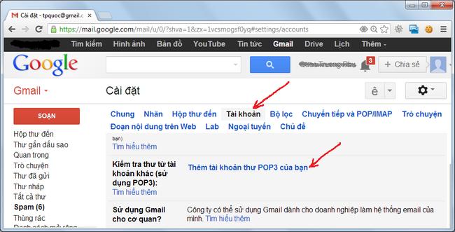 Sử dụng Gmail như một phần mềm quản lý thư